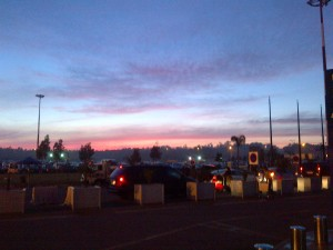 Sunrise at Mohammed V Airport, Casablanca